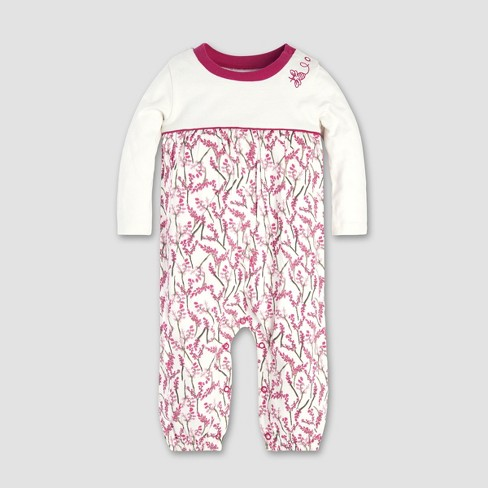 Burt s Bees Baby® Baby Girls  Blooming Branches Coverall - Eggshell ... 7d0b226e7632