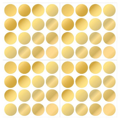 WallPops! Confetti Dots Set of 2 - Gold