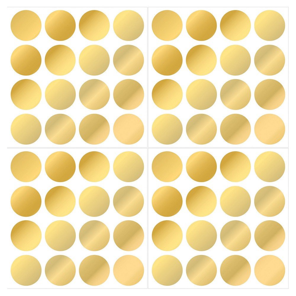 Image of WallPops! Confetti Dots Set of 2 - Gold