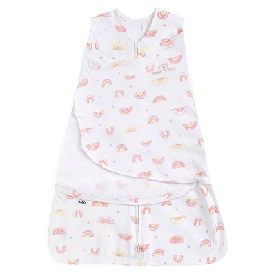 HALO Sleepsack 100% Cotton Swaddle -Sunshine Rainbows S