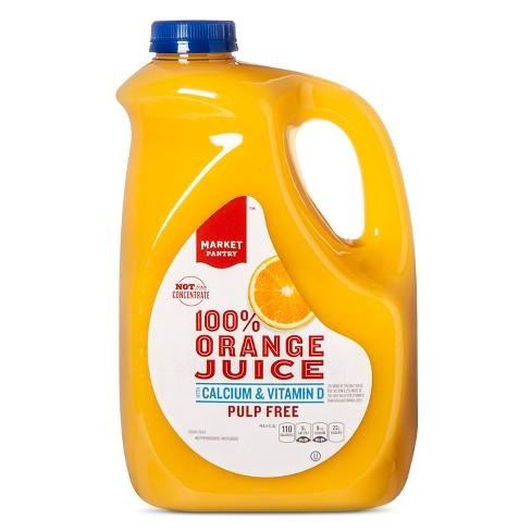 Calcium & Vitamin D No Pulp 100% Orange Juice - 89 fl oz - Market Pantry™ - image 1 of 1