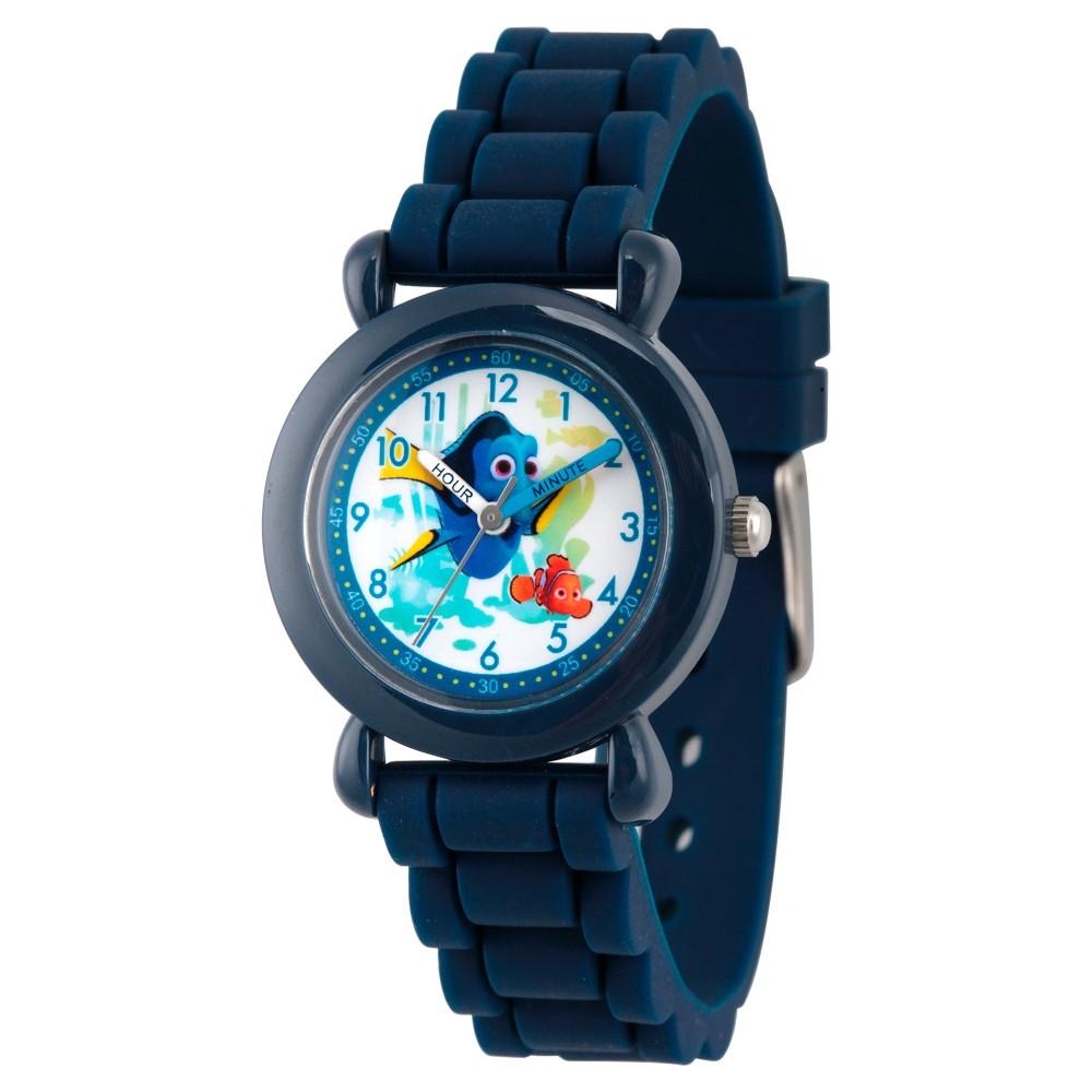 Boys' Disney Finding Dory Blue Plastic Time Teacher Watch - Blue