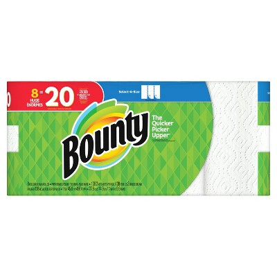 Bounty Select-a-Size Paper Towels - 8 Huge Rolls