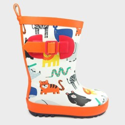 Kids' Rain Boots Animals White S - Sun Squad™