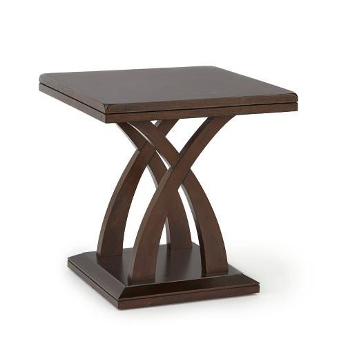 Pleasing Jocelyn End Table Espresso Cherry Steve Silver Download Free Architecture Designs Crovemadebymaigaardcom