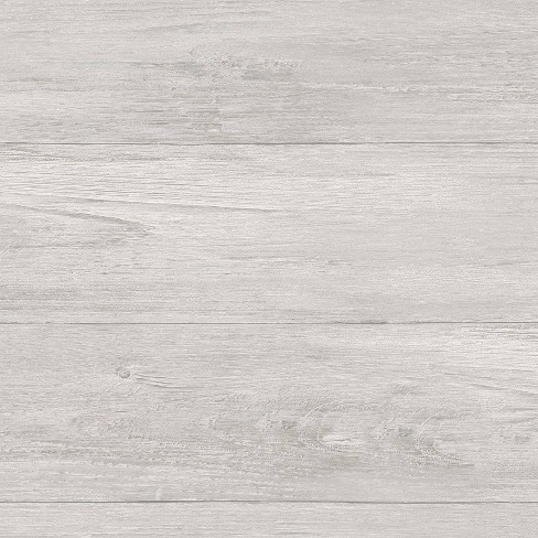 Nuwallpaper Wood Plank Peel Stick Wallpaper Gray Target