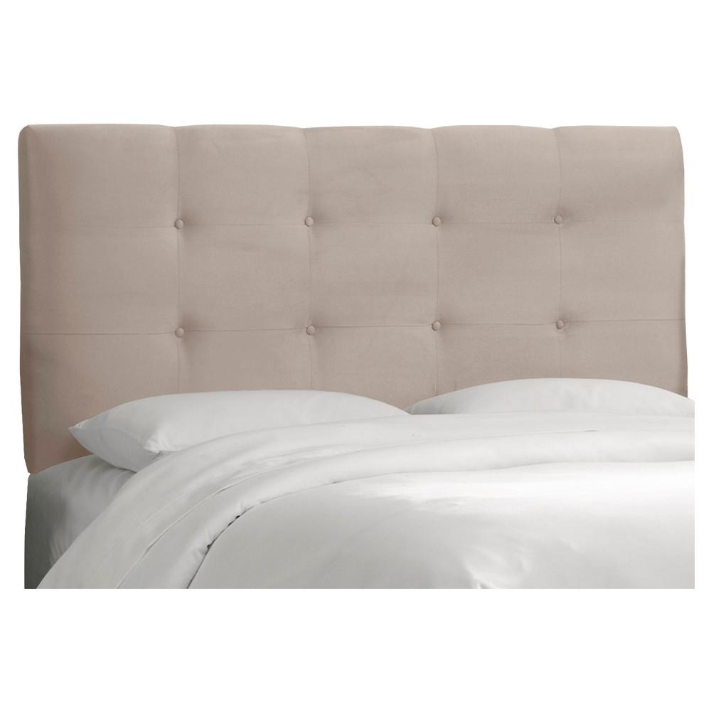 Dolce Microsuede Headboard - Premier Platinum - Queen - Skyline Furniture