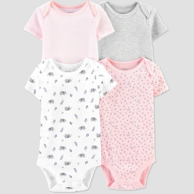 Baby Girls' 4pk Bodysuit - Just One You® made by carter's Pink 6M