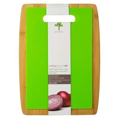 Architec Bamboo & Poly Cutting Board Set of 2