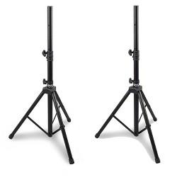 Pyle Pro Adjustable Extending Height Tripod Speaker Stand Holder Mount, 2-Pack