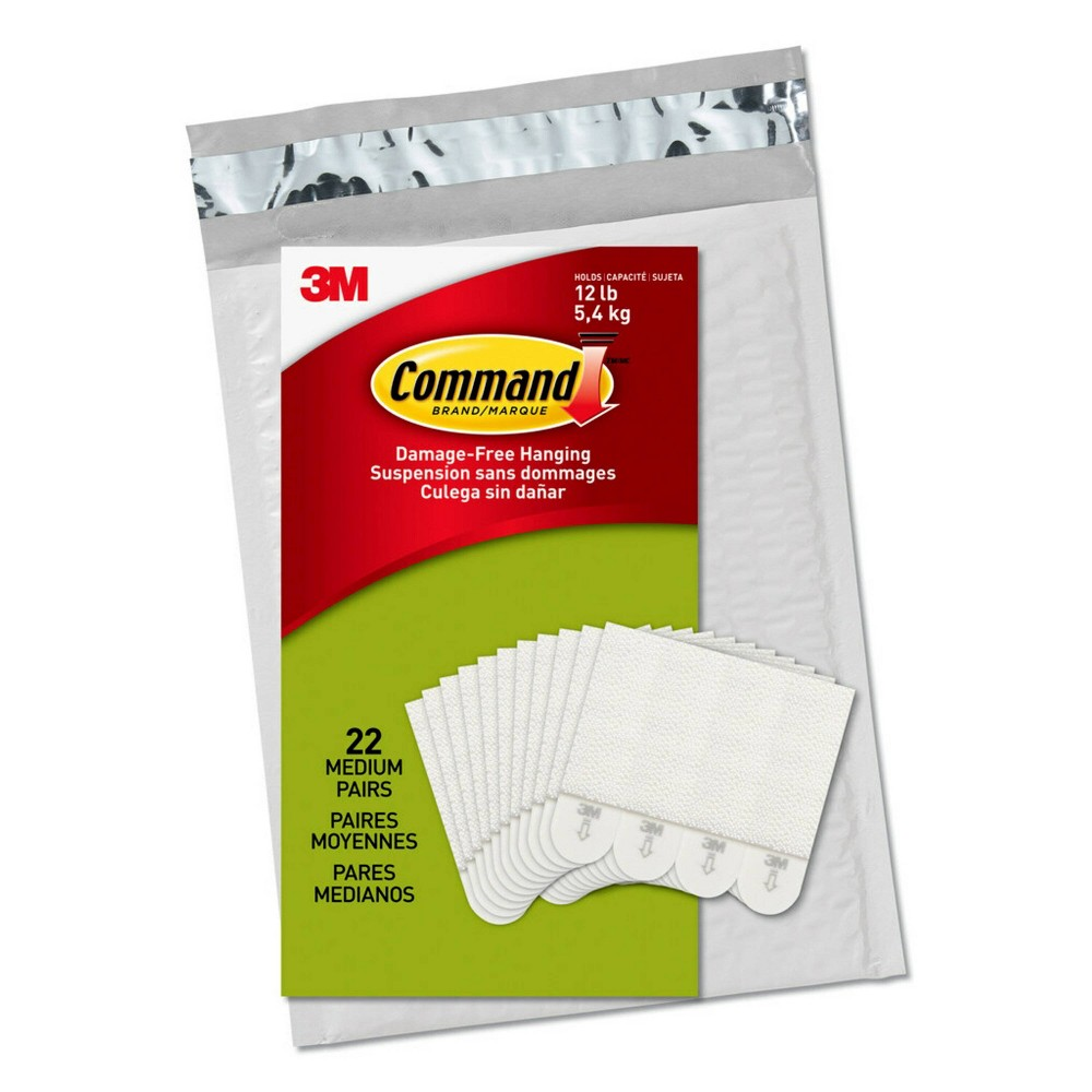 Command 22 Pairs Medium Picture Hanging Strips Decorative Hooks