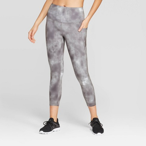 "Women's Everyday Marble Print High-Waisted Capri Leggings 20"" - C9 Champion® - image 1 of 2"