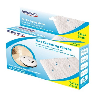 KOBOT Disposable Wet Cleaning Cloths (12pk) for RV337 & RV351