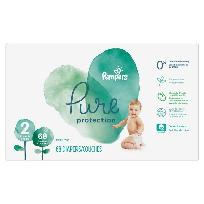 Pampers Pure Protection Diapers Super Pack - Size 2 (68ct)