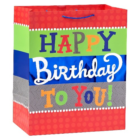Happy Birthday Bold Colors Gift Bag - Spritz™ - image 1 of 1