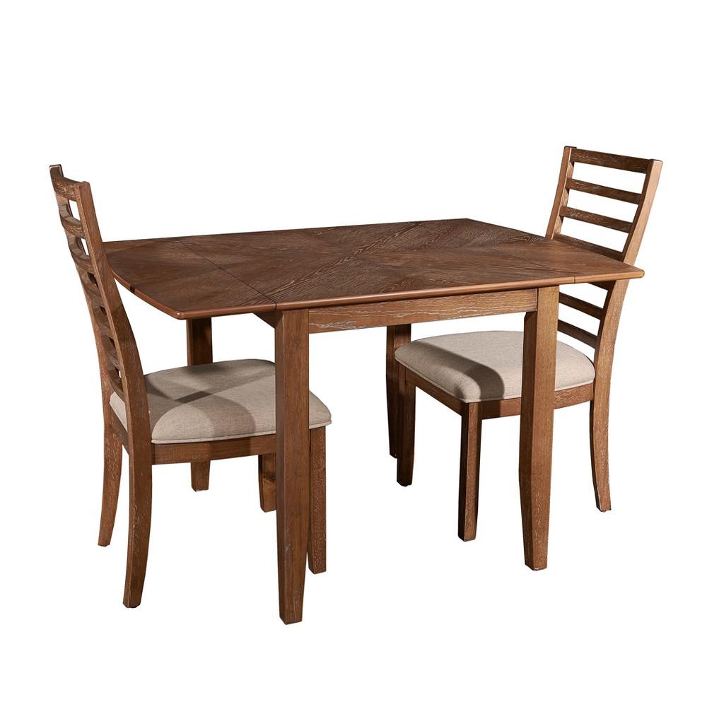 3pc Caleb Dining Set Red Oak - Powell Company, Wood