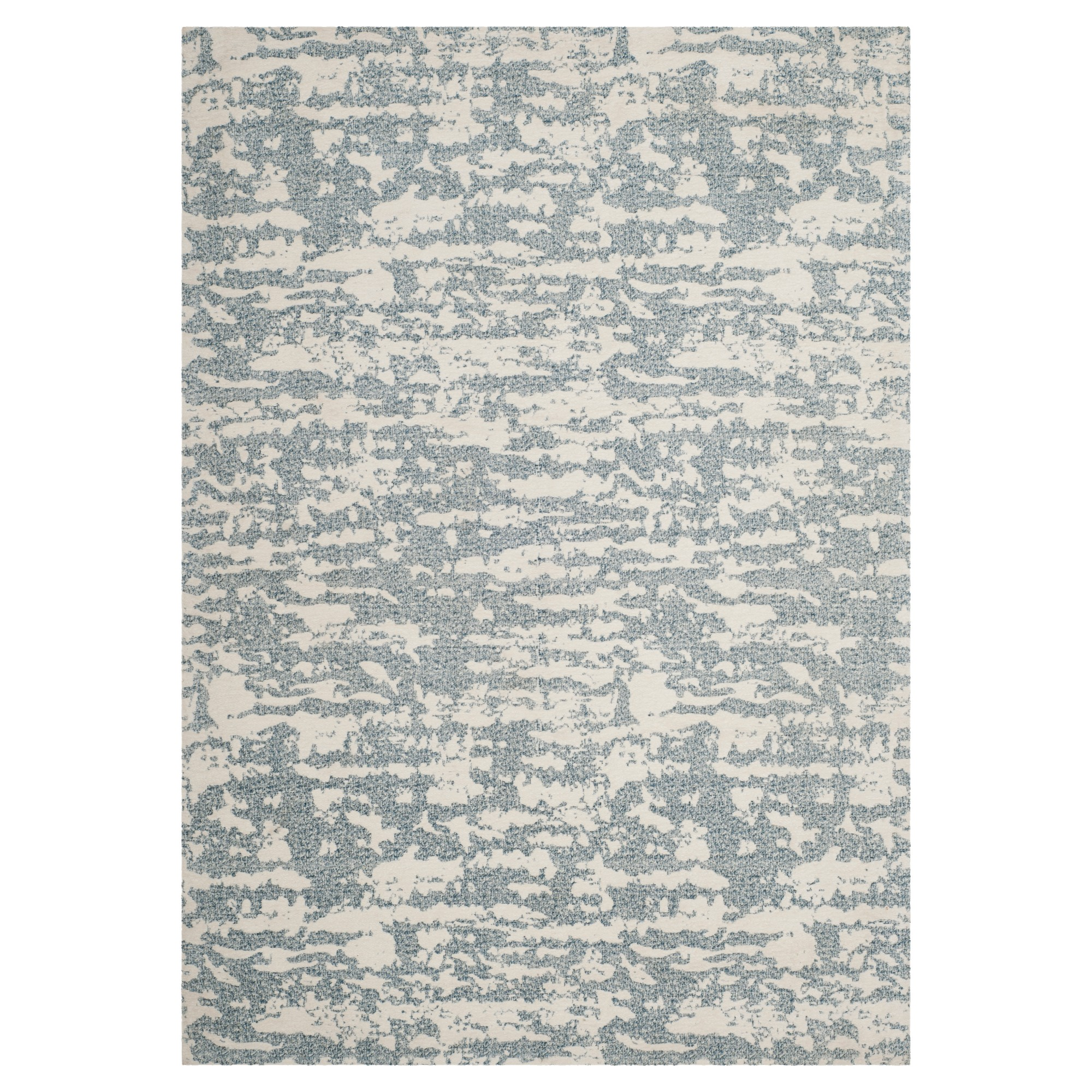 Blue/Ivory Spacedye Design Woven Area Rug 4'X6' - Safavieh