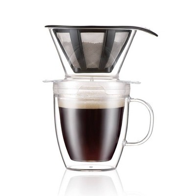 Bodum 15oz Pour Over Coffee Maker Single-Serve - Clear