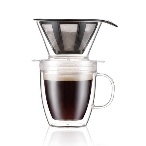 Bodum 15oz Pour Over Coffee Maker Single Serve - Clear - image 1 of 4