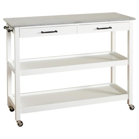 Arlington Kitchen Cart - White - Angelo:Home