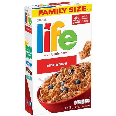 Quaker Life Cinnamon Family Size Cereal - 22.3oz