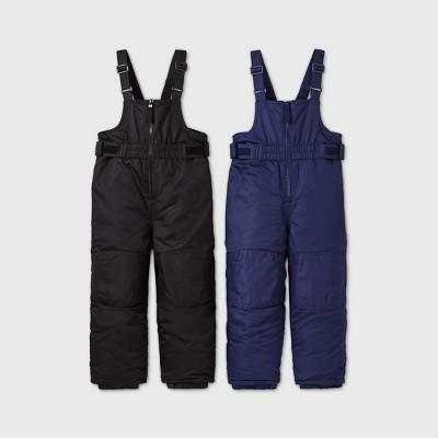 Toddler Boys' Snow Bib - Cat & Jack™ Black/Navy 4T