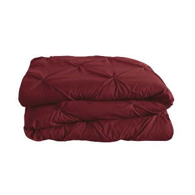 Burgundy Nilda Comforter Set (Queen)- VCNY