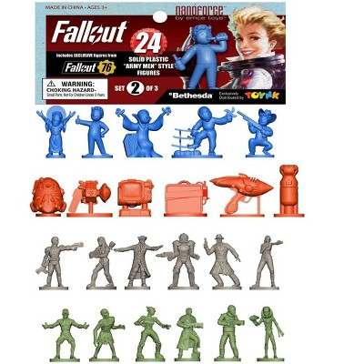 Toynk Fallout Nanoforce Series 1 Army Builder Figure Collection - Bagged Set 2