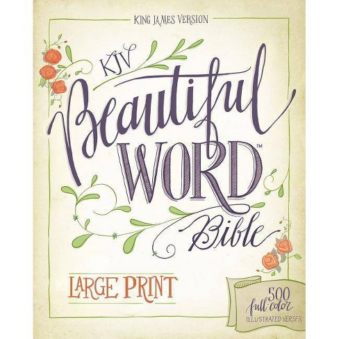 KJV, Beautiful Word Bible, Large Print, Hardcover, Red Letter Edition - by  Zondervan
