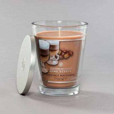 11.5oz Glass Jar Chestnut Macchiato Candle - Home Scents