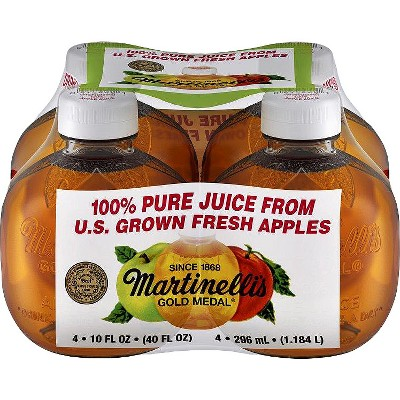 Martinelli's Apple Juice - 4pk/10 fl oz Bottles