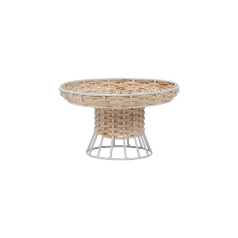 Foreside Home And Garden Rattan Metal Riser Small