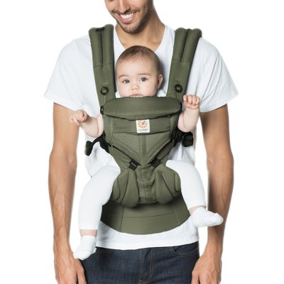 Ergobaby Omni 360 Cool Air Mesh All Carry Positions Baby Carrier - Khaki Green