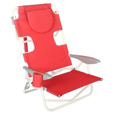 Face Down On Your Back Beach Chair - Red - Ostrich