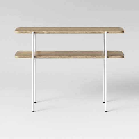 Mandelin Wood Metal Console Table Metal Natural White Project 62