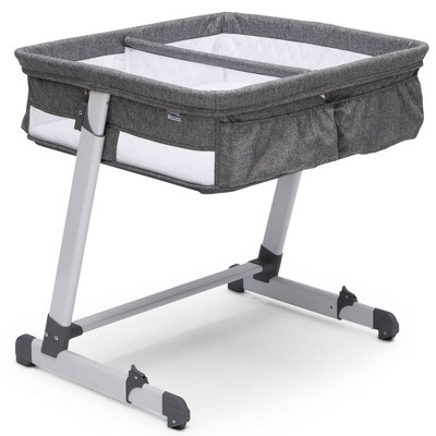 Delta Children Simmons Kids' By The Bed City Sleeper Bassinet for Twins - Gray