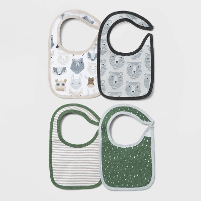 Baby Boys' 4pk Little Cub Bib Set - Cloud Island™ Green