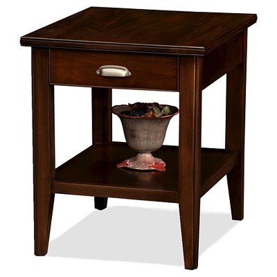 Exceptionnel Laurent Drawer End Table Chocolate Cherry Finish   Leick Furniture