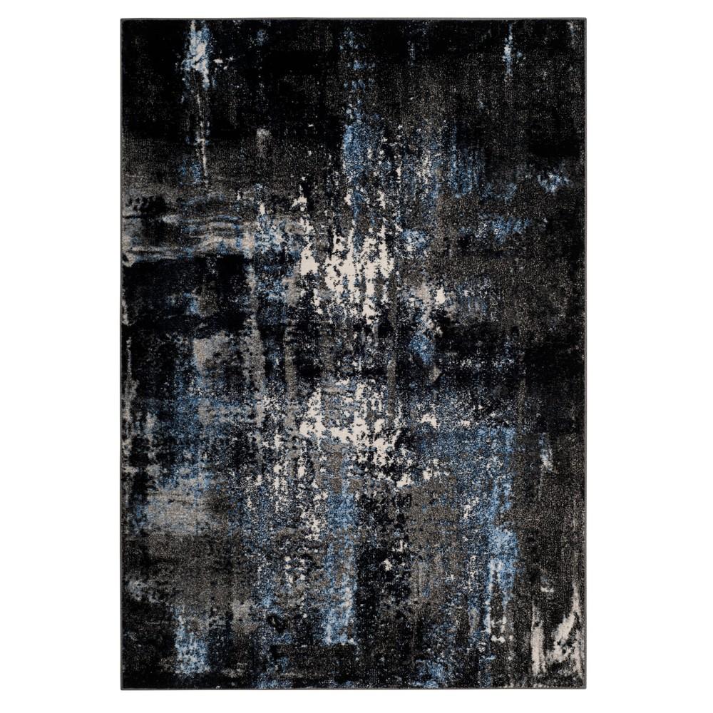 Gray/Black Splatter Loomed Area Rug 8'X10' - Safavieh, Graynblack