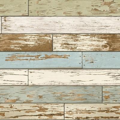 Brewster Old Salem Vintage Wood Peel & Stick Wallpaper Tan