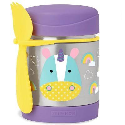 Skip Hop Zoo Little Kids & Toddler Insulated Stainless Food Jar & Utensil - Unicorn