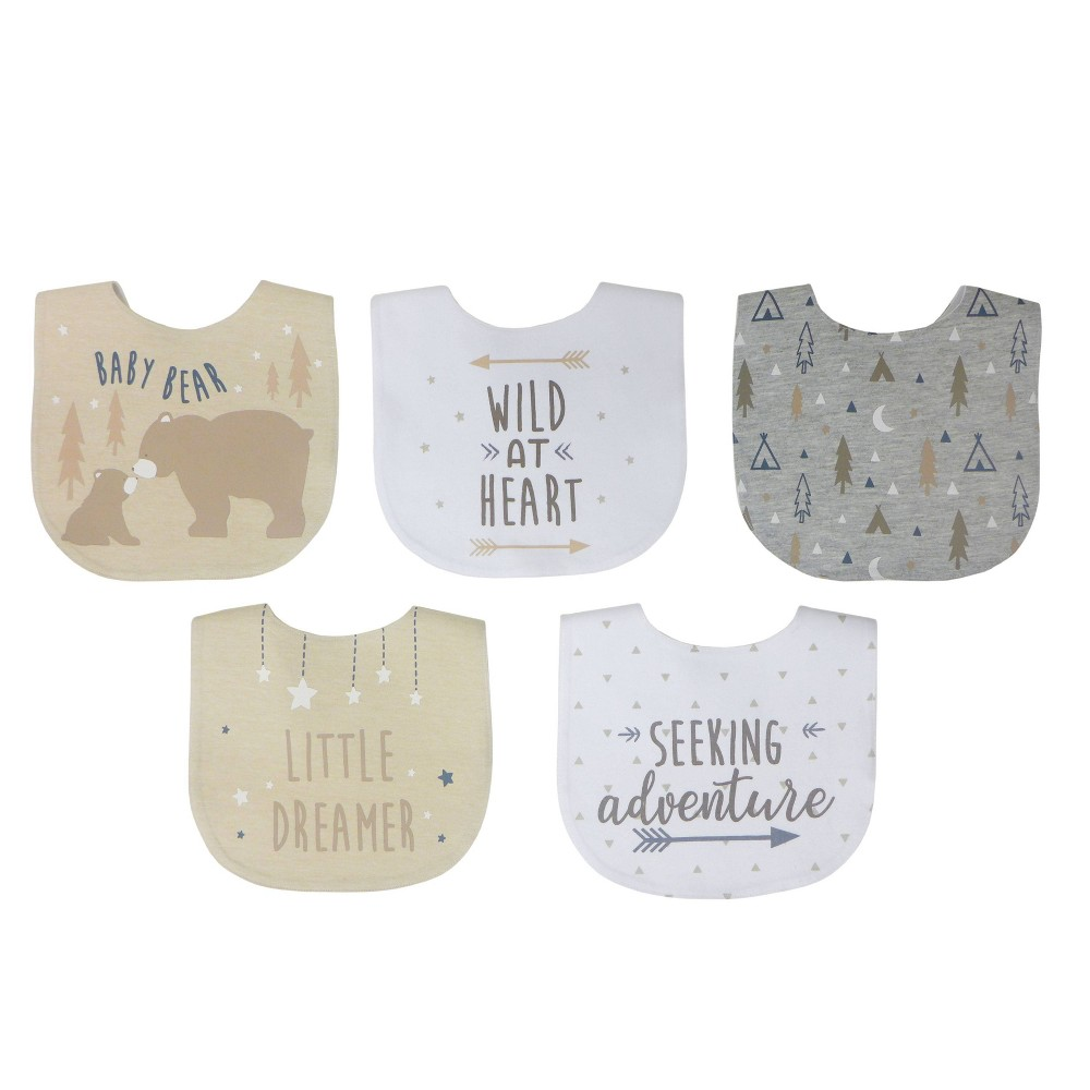 Image of Neat Solutions Boy Aspirational Sayings Printed Water-Resistant Lined Infant Bib Set - 5pk