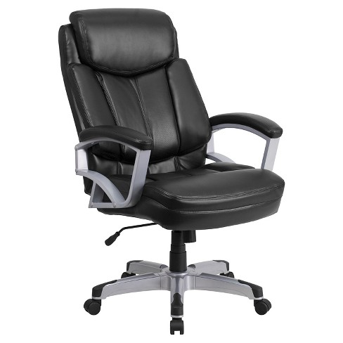HERCULES Series 500 lb. Capacity Big & Tall Executive Swivel Office Chair Black Leather - Flash Furniture - image 1 of 4