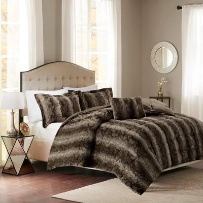 Marselle Brushed Faux Fur Comforter Set