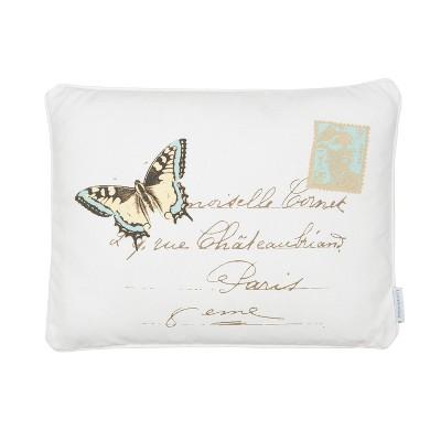 Palladium Grey Butterfly Decorative Pillow - Levtex Home