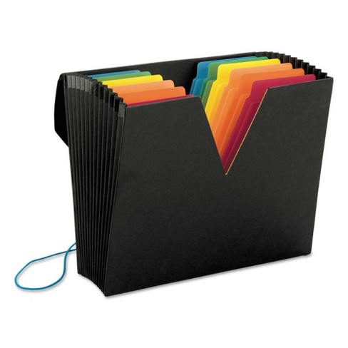 ColorVue Expanding File Pocket Super Tab 13 Pocket Letter Black - image 1 of 4