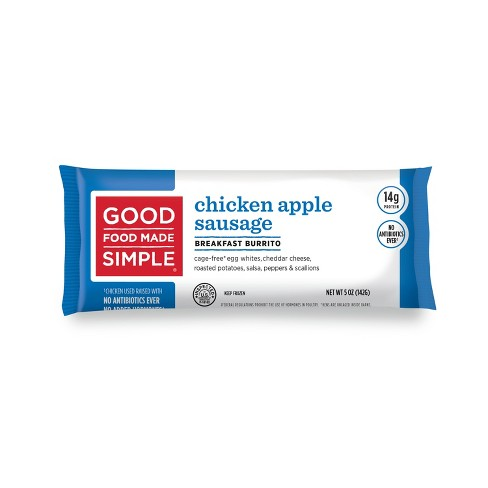 Good Food Made Simple Chicken Apple Sausage Egg White Frozen Burrito - 5oz - image 1 of 1