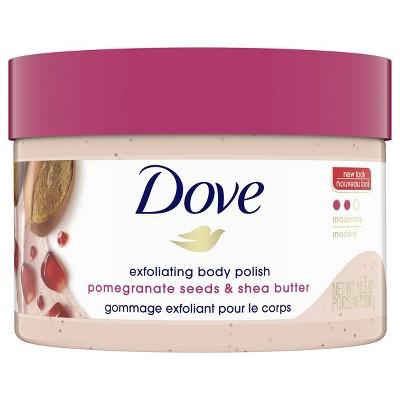 Dove Pomegranate Seeds & Shea Butter Exfoliating Body Polish Scrub - 10.5oz