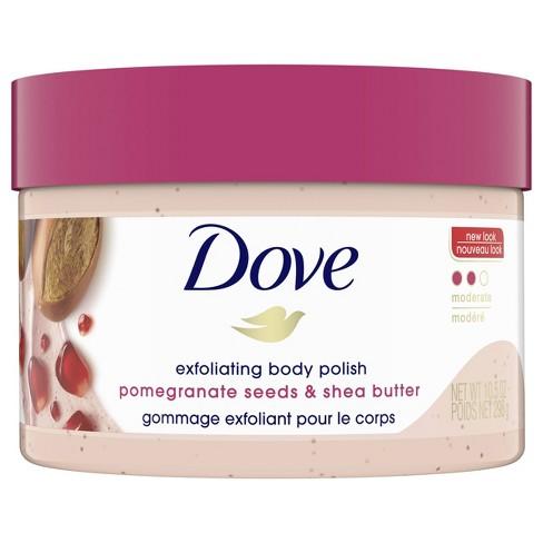 Dove Pomegranate Seeds & Shea Butter Exfoliating Body Polish Scrub - 10.5oz - image 1 of 4