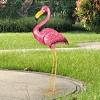 "29.13"" Metal Flamingo Statue Pink - Exhart - image 2 of 4"